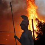 Greek fires force Beach Rescue, approach Olympics Birthplace